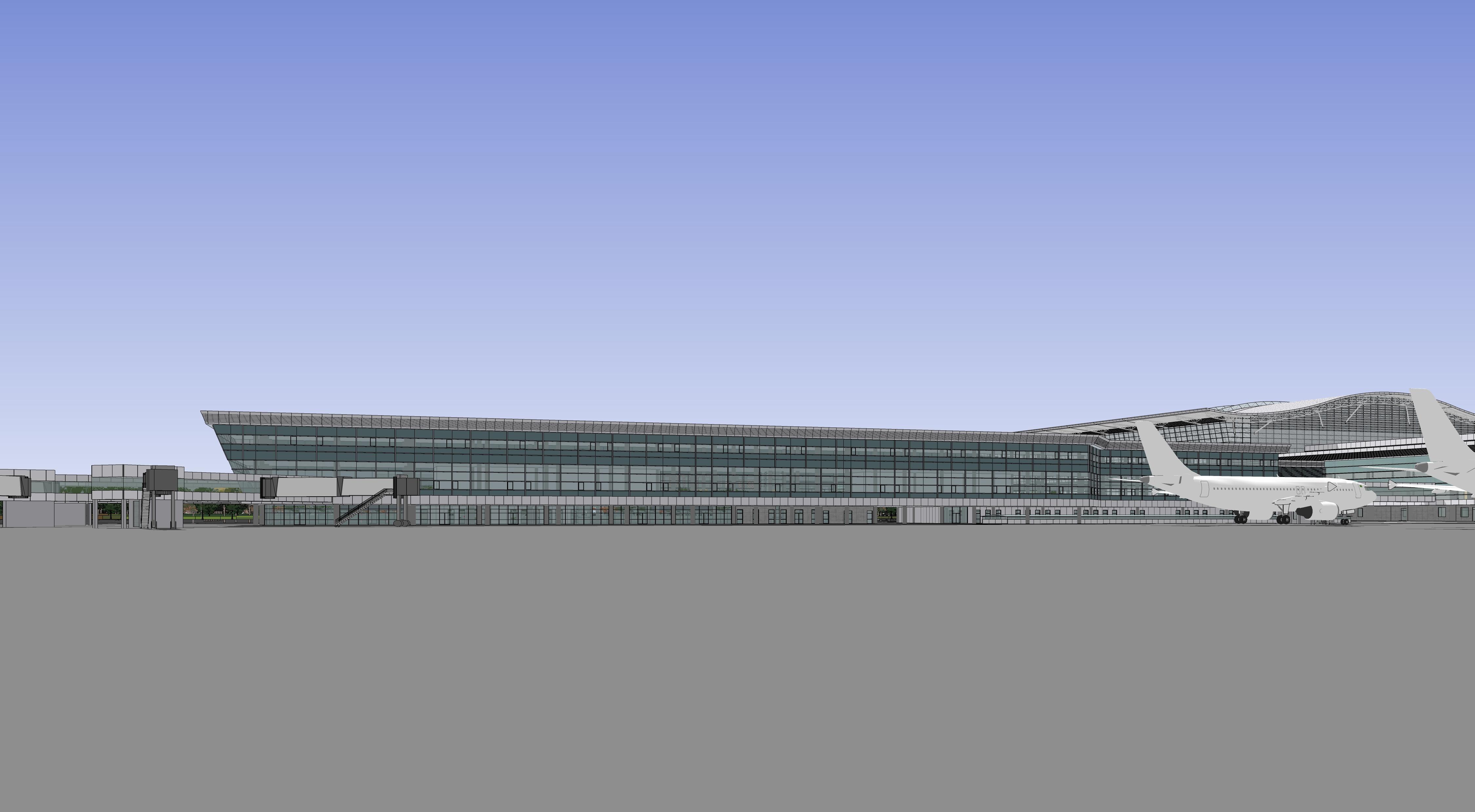 西安南三指廊航站楼工程