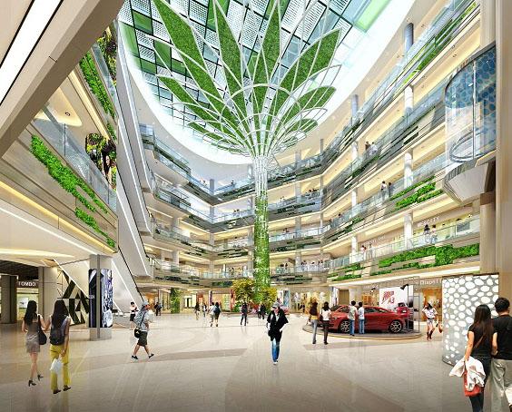 吉宝季景新城项目中庭亚搏体育app下载景观树施工工程